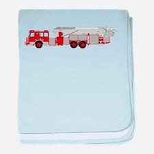 fire truck 2 baby blanket