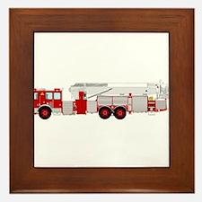 fire truck 2 Framed Tile