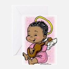 Musical Angel Blank Greeting Card Single