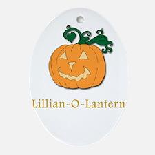 Lilian-O-Lantern Oval Ornament