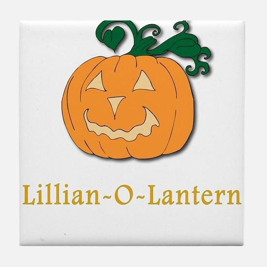 Lilian-O-Lantern Tile Coaster