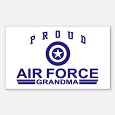 Proud Air Force Grandma Rectangle Decal