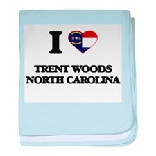 I love Trent Woods North Carolina baby blanket