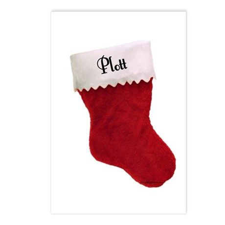 Plott Stocking Postcards (Package of 8)