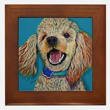 Lil' Poodle Framed Tile