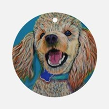 Lil' Poodle Ornament (Round)