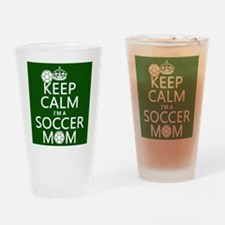 Keep Calm I'm A Soccer Mom Drinking Glass
