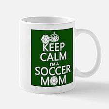 Keep Calm I'm A Soccer Mom Mugs