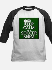 Keep Calm I'm A Soccer Mom Baseball Jersey