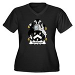 Adlington Family Crest    Women's Plus Size V-Neck