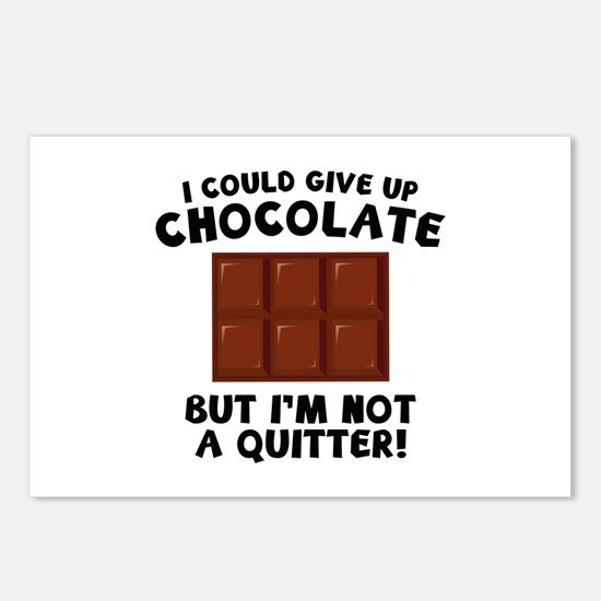 I Could Give Up Chocolate Postcards (Package of 8)