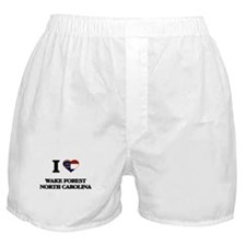 I love Wake Forest North Carolina Boxer Shorts