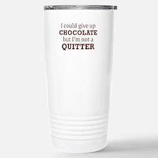 I Could Give Up Chocolate Ceramic Travel Mug