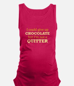 I Could Give Up Chocolate Maternity Tank Top