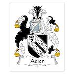 Adler Family Crest Small Poster