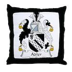 Adler Family Crest Throw Pillow