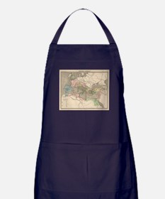 Vintage Map of The Roman Empire (1838 Apron (dark)