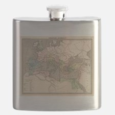 Vintage Map of The Roman Empire (1838) Flask