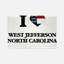 I love West Jefferson North Carolina Magnets