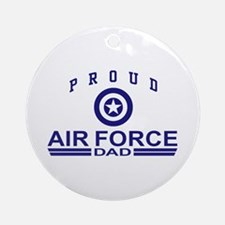 Proud Air Force Dad Ornament (Round)