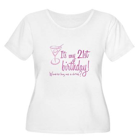 21 Women's Plus Size Scoop Neck T-Shirt