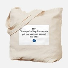 Wrapped Around Her Paw (Chesapeake) Tote Bag