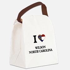 I love Wilson North Carolina Canvas Lunch Bag
