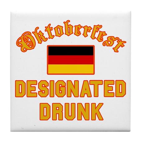 Oktoberfest Drunk Tile Coaster