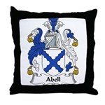 Abell Family Crest Throw Pillow