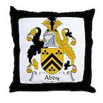 Abdy Family Crest Throw Pillow