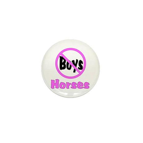 No Boys - Horses Mini Button (10 pack)