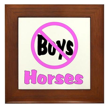 No Boys - Horses Framed Tile