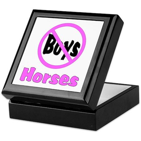 No Boys - Horses Keepsake Box