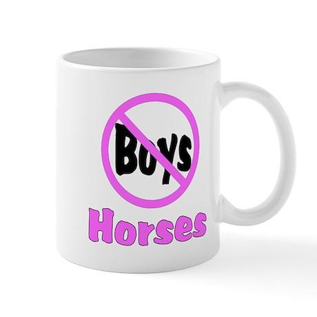 No Boys - Horses Mug