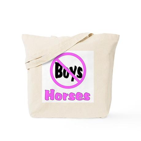 No Boys - Horses Tote Bag