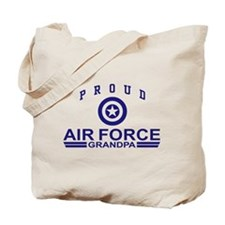 Proud Air Force Grandpa Tote Bag