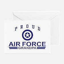 Proud Air Force Grandpa Greeting Cards (Pk of 10)