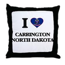 I love Carrington North Dakota Throw Pillow