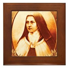 St. Therese Framed Tile