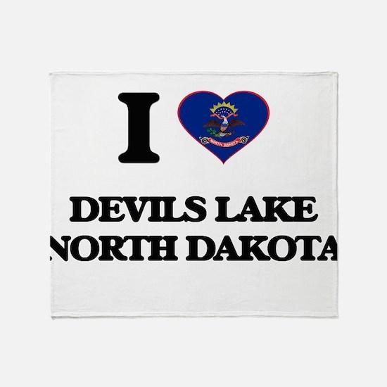 I love Devils Lake North Dakota Throw Blanket