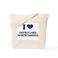 I love Devils Lake North Dakota Tote Bag