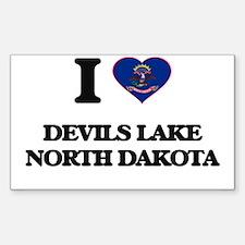 I love Devils Lake North Dakota Decal