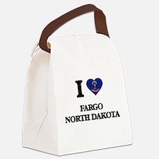 I love Fargo North Dakota Canvas Lunch Bag