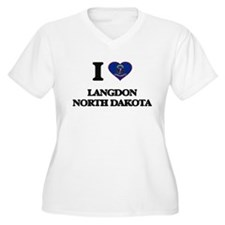 I love Langdon North Dakota Plus Size T-Shirt