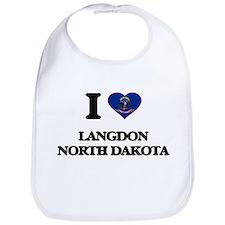I love Langdon North Dakota Bib