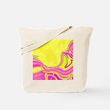 neon fuchsia yellow swirls Tote Bag