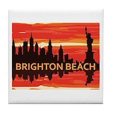 Brighton Beach. Tile Coaster