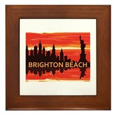 Brighton Beach. Framed Tile