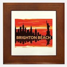 Brighton Beach. Framed Tile