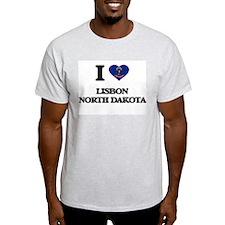I love Lisbon North Dakota T-Shirt